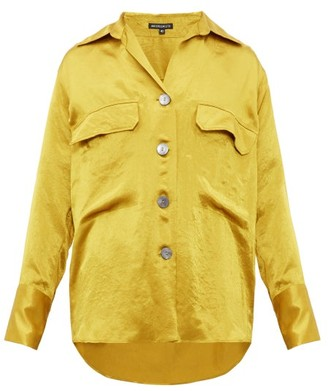 Ann Demeulemeester Loose Fit Satin Shirt - Mens - Yellow