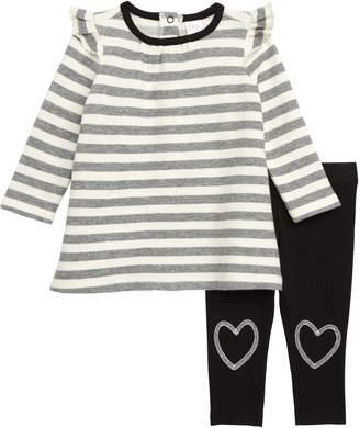 Nordstrom Stripe Dress & Leggings Set