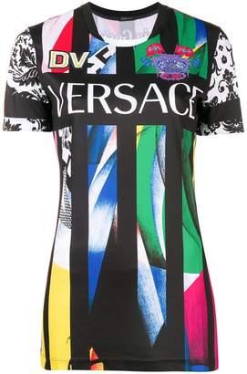 Versace logo printed team T-shirt