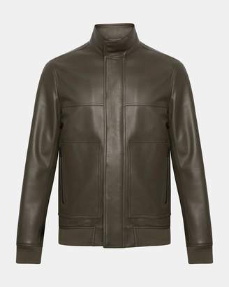 Theory Stand-Collar Leather Jacket