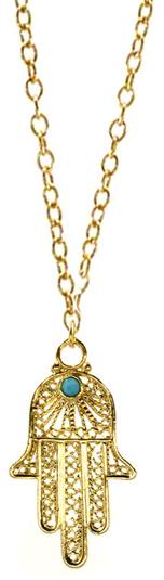 Ettika Lace Hamsa Necklace