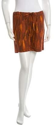 Samantha Pleet Printed Mini Shorts