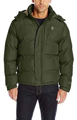 U.S. Polo Assn. Men's Classic Bubble Jacket With Polar Fleece Lining and Mini Logo