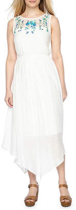 Byer California Sleeveless Embroidered Sundress-Petite