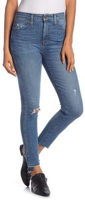 Madewell Distressed Curvy High Rise Skinny Jeans