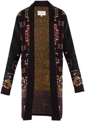 Etro Intarsia-knit wool-blend cardigan