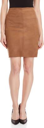 Max Studio Petite Faux Suede Skirt