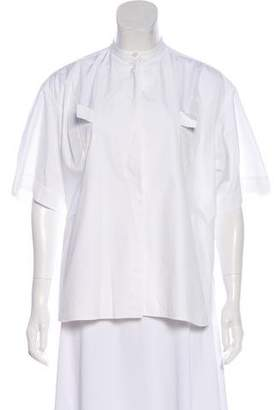 Celine Short Sleeve Button-Up Top