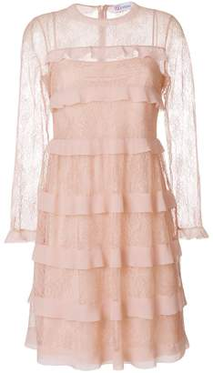 RED Valentino tiered lace dress