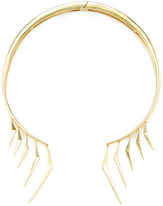 Noir 14K Yellow Gold Plated Warrior Choker Necklace