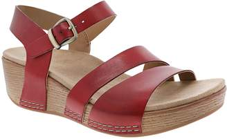 Dansko Women's Adjustable Ankle Strap Wedge Sandals - Lindsay
