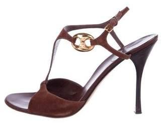 Gucci Suede T -Strap Sandals