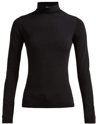 The Row Dronia Roll Neck Jersey Sweater - Womens - Black