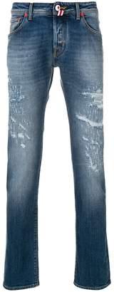 Jacob Cohen flag patch jeans