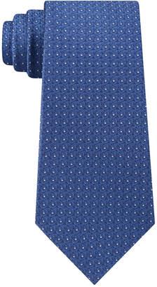 Calvin Klein Men's Medallion Slim Silk Tie
