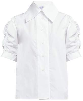 Thierry Colson Tilda Puff Sleeve Cotton Poplin Shirt - Womens - White