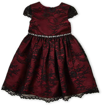 Little Angels (Toddler Girls) Red Lace Cap Sleeve Dress