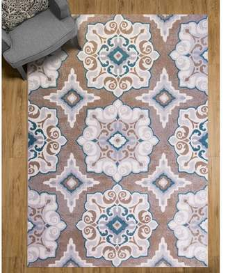 Andover Mills Natural Cerulean Blue/Taupe Area Rug Rug