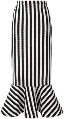 Saloni long striped skirt