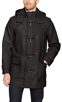 Nautica Men's Hooded Wool Toggle Coat