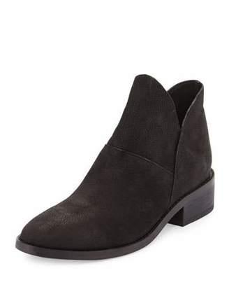 Eileen Fisher Leaf Nubuck Slip-One Bootie, Black