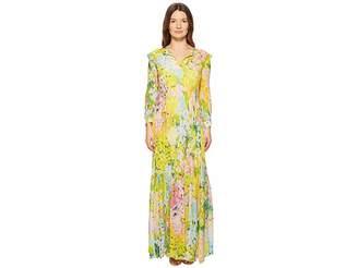 Moschino Flower Printed Creponne Maxi Dress