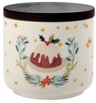 Maxwell & Williams Lappland Canister Christmas Pudding 10x8.5cm
