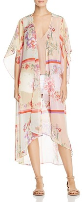 Band of Gypsies Floral-Print Sheer Kimono $89 thestylecure.com