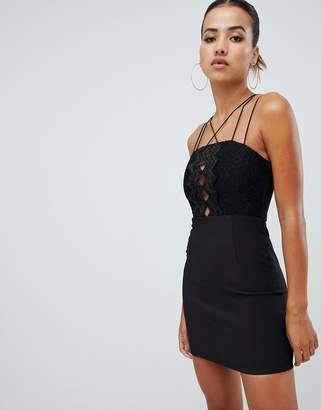 Rare London zig zag mini dress