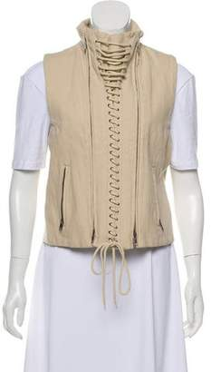 Ann Demeulemeester Wool Blend Lace-Up Vest