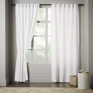 west elm Linen Cotton Curtain - Stone White