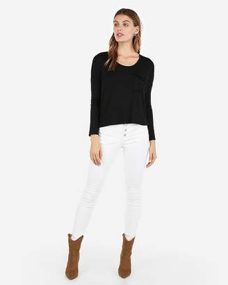 Express One Eleven Long Sleeve Boxy Tee