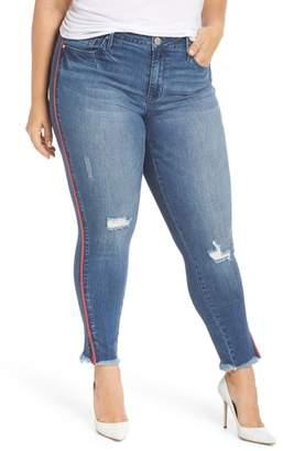 Seven7 Fray Hem Ankle Skinny Jeans