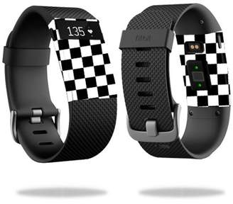 Fitbit Mightyskins MightySkins Skin for Charge 3 - Black Argyle   Protective, Durable, and Unique Vinyl Decal wrap cover   Easy To Apply, Remove, and Change Styles   Made in the USA