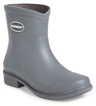 Women's Havaianas 'Galochas Low Matte' Waterproof Rain Boot $65 thestylecure.com