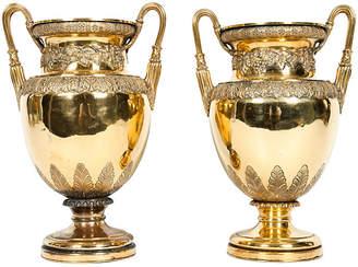 One Kings Lane Vintage Old English Bronze Vases - Set of 2 - La Maison Supreme