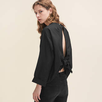 Maje Wide-cut blouse with open back