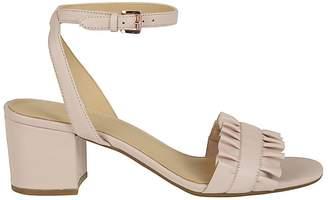 Michael Kors Bella Ruffled Mid-heel Sandals