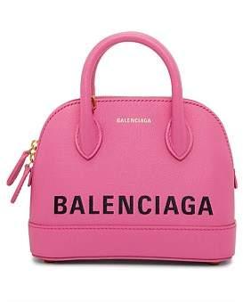Balenciaga Ville Top Handle Logo Bag Xxs
