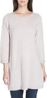 Eileen Fisher Merino Wool Jersey Tunic Sweater