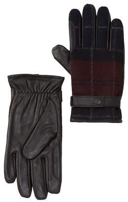 Barbour Newborough Waterproof Tartan & Leather Gloves
