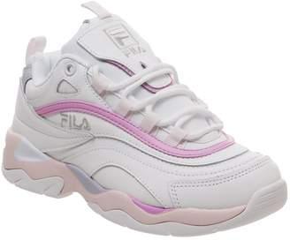 Fila Ray Trainers White Heavenly Pink Purple