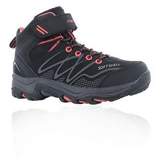 Hi-Tec Blackout MID Waterproof Junior Girls High Rise Hiking Boots, (Black/Pink 21), 4 (37 EU)
