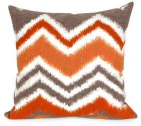 Visions III Zigzag Ikat Indoor and Outdoor Square Pillow