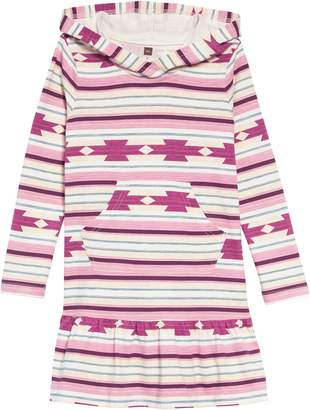 Tea Collection Stripe Hooded Dress