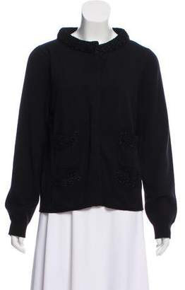 Marc Jacobs Metallic Trimmed Wool Cardigan