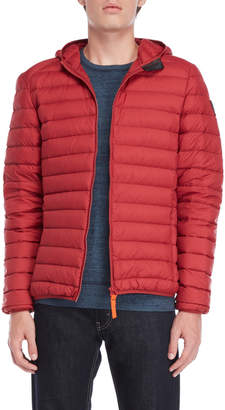 Gertrude + Gaston Hooded Packable Down Jacket
