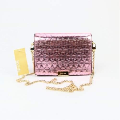 Michael Kors Jade Medium Soft Pink Gusset Clutch - ONE COLOR - STYLE