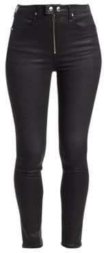Rag & Bone Baxter Skinny High-Rise Coated Jeans