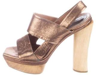 Marni Metallic Suede Sandals
